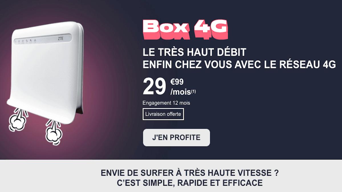 Box 4G en promo chez NRJ Mobile
