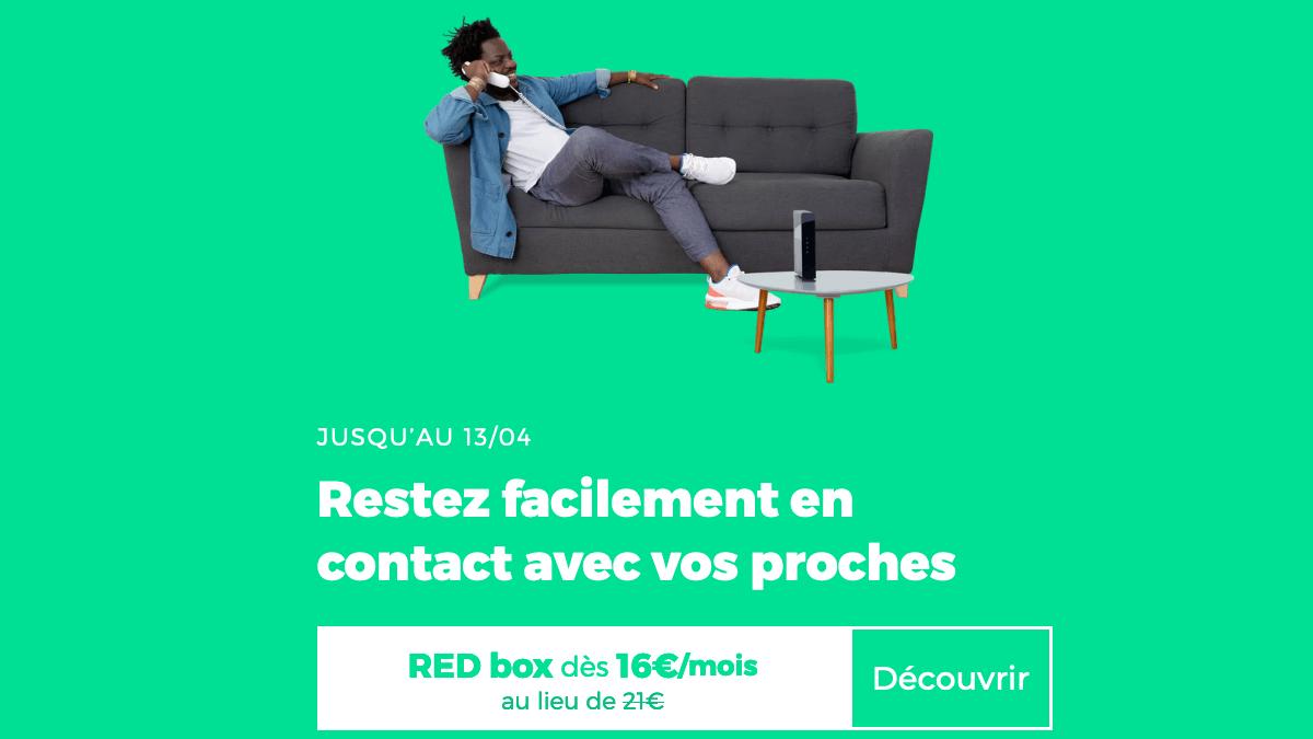 RED by SFR promo box internet fibre optique.