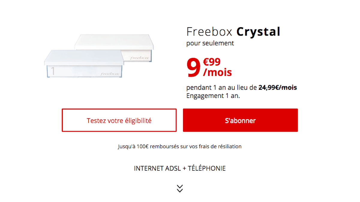 box internet sans TV Freebox