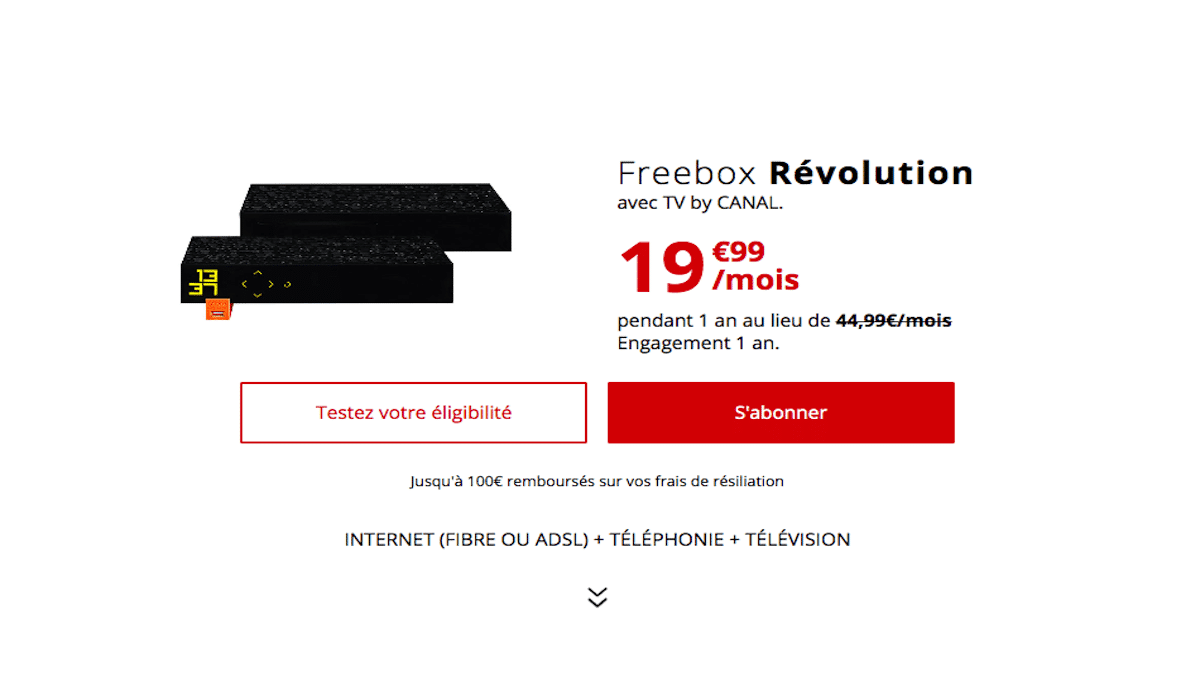 Promo box internet avec TV Freebox