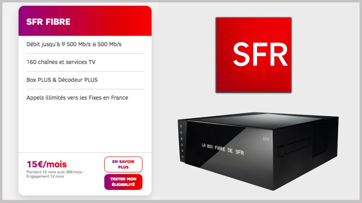 Fibre optique ou ADSL avec la première SFR box