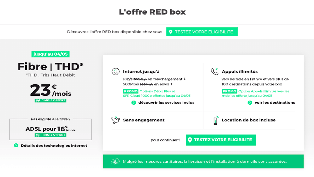 Promotion sur la RED Box