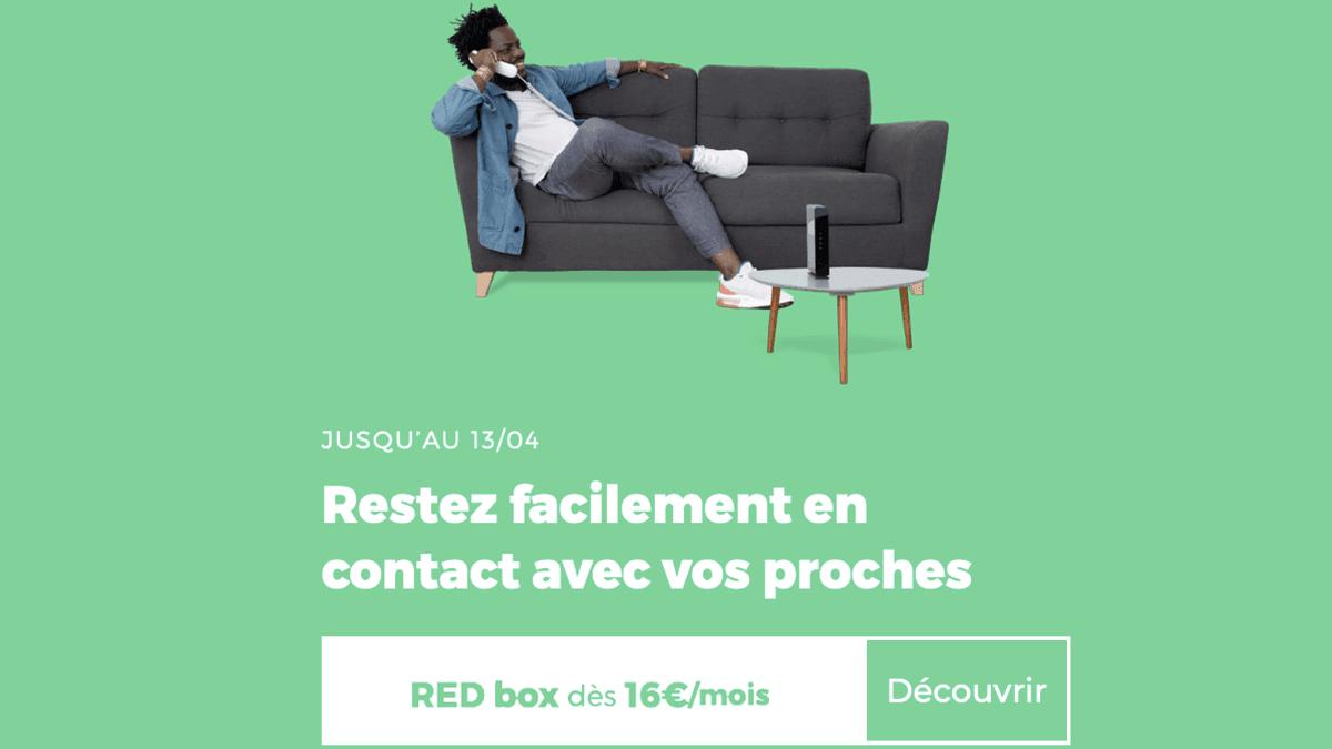Box sans engagement ADSL RED box.