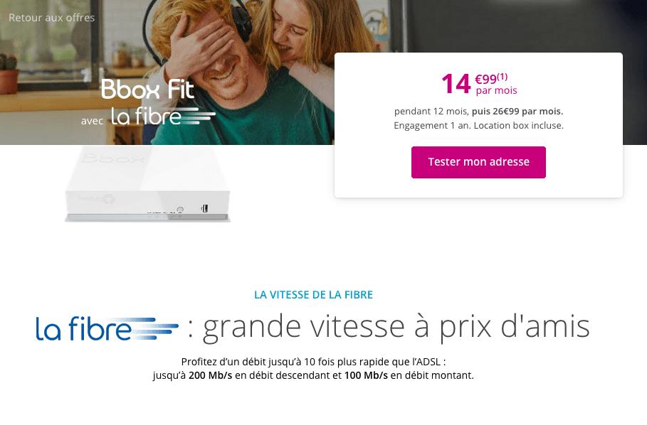 La Bbox Fit à partir de 14,99€ par mois