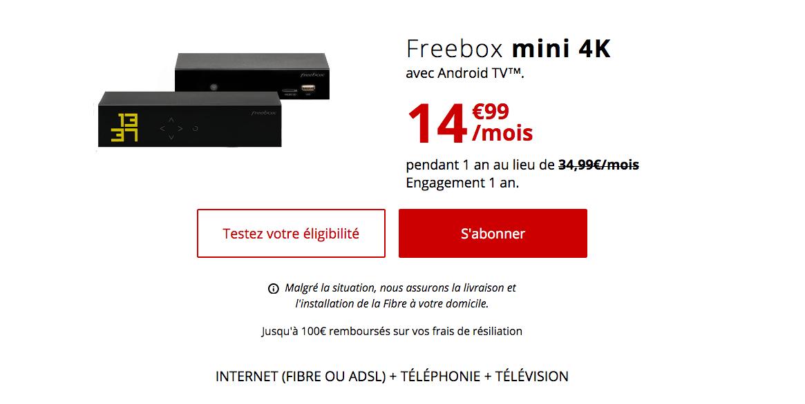 Souscrire la Freebox mini 4K à 14,99€