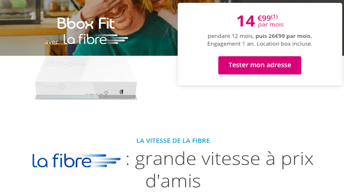 Box Bouygues Telecom bbox Fit 14,99€