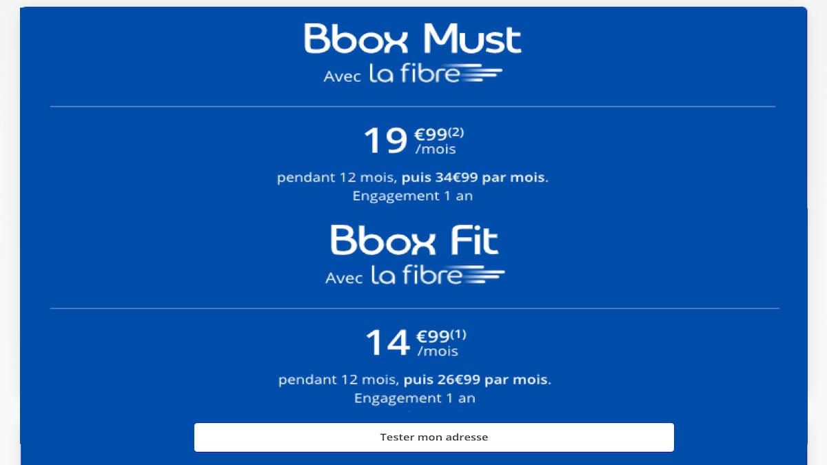 Bbox fit et must à moins de20€