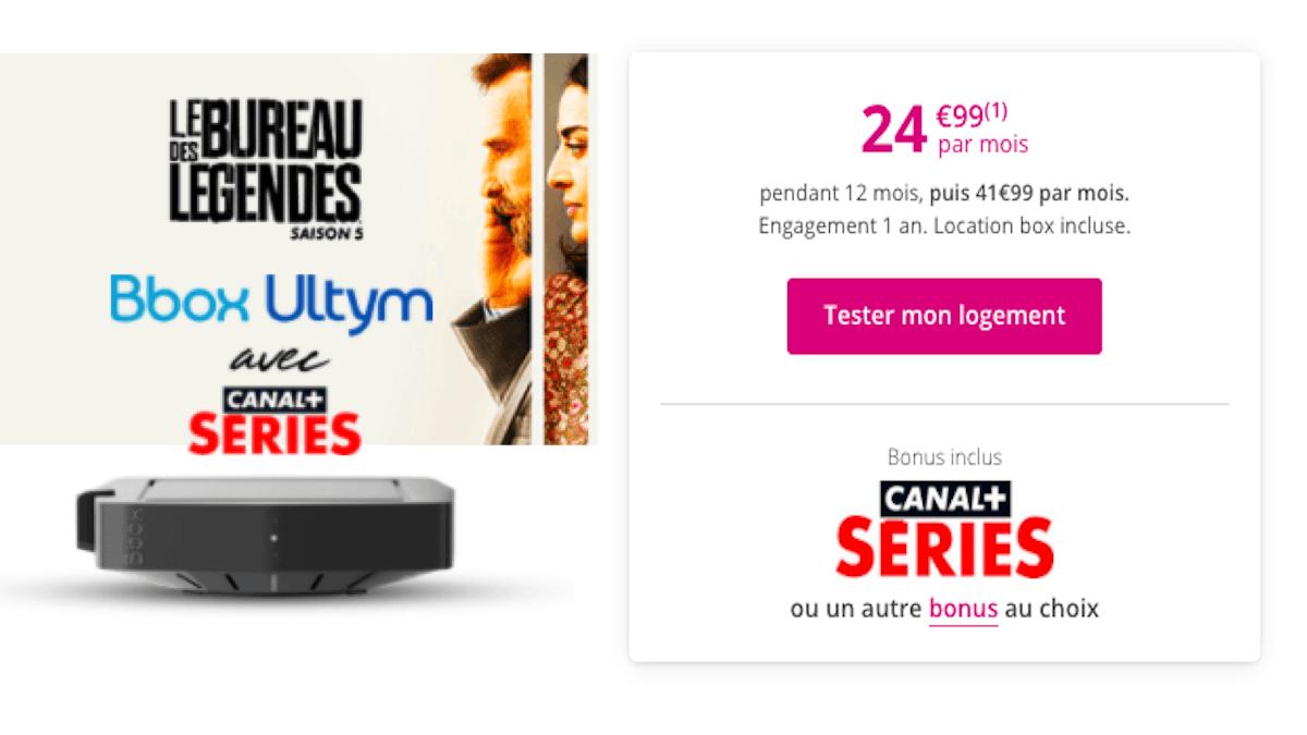 Box avec TV en promo chez Bouygues Bbox Ultym
