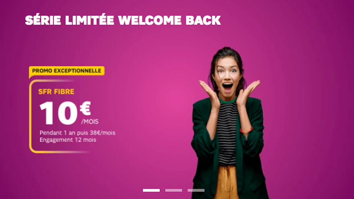 SFR Box série limitée welcome back à 10€