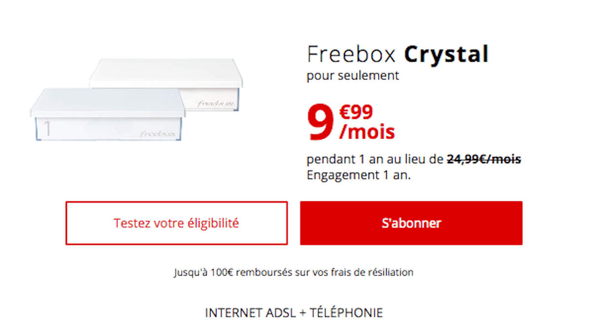 La Freebox Crystal à 9,99€