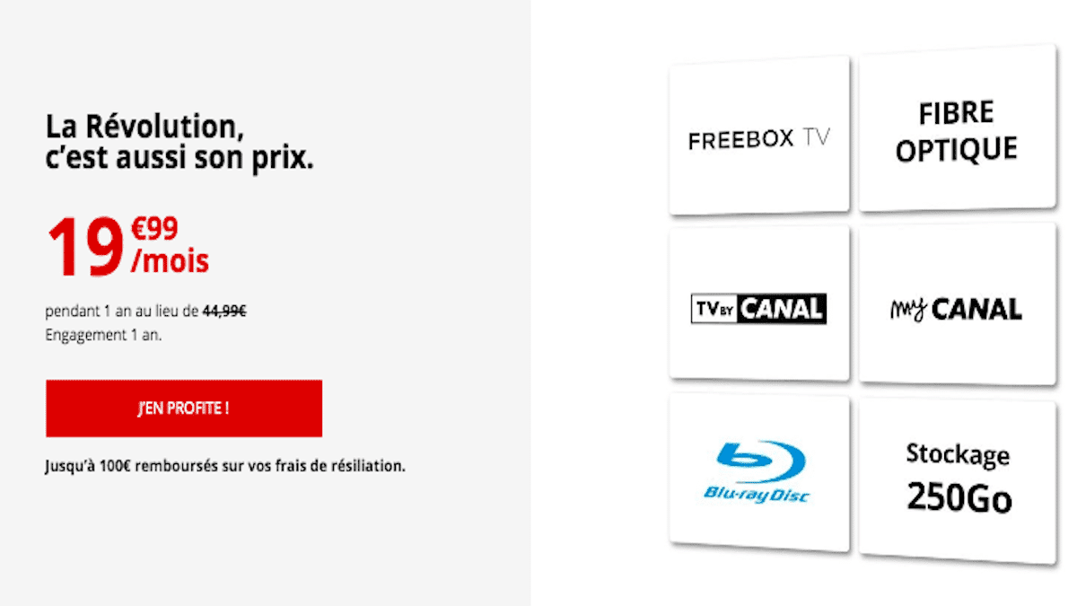 Freebox Révolution en promo 19,99€