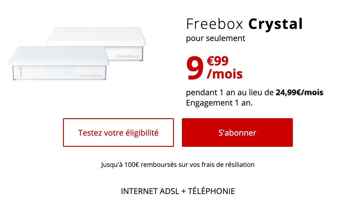 Internet box for less than 10 € Free.