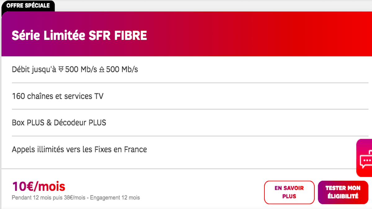 SFR Box à 10€ avec la série limitée welcome back