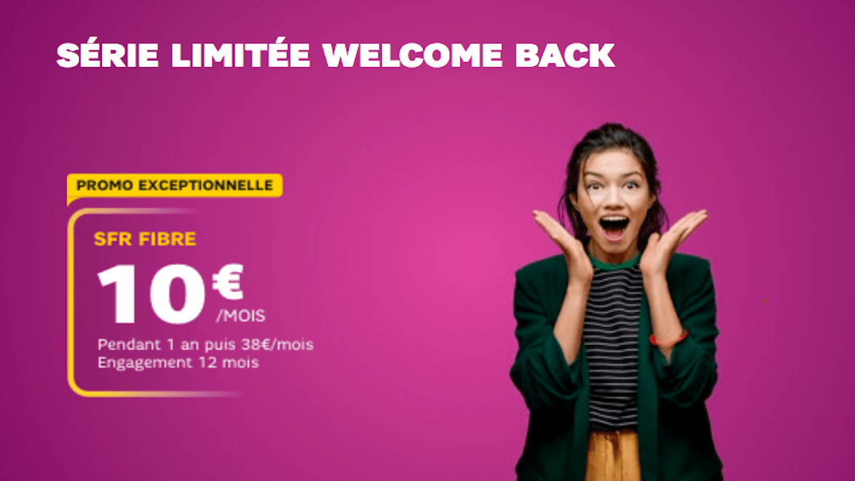 La SFR Box à 10€ avec la série Welcome Back