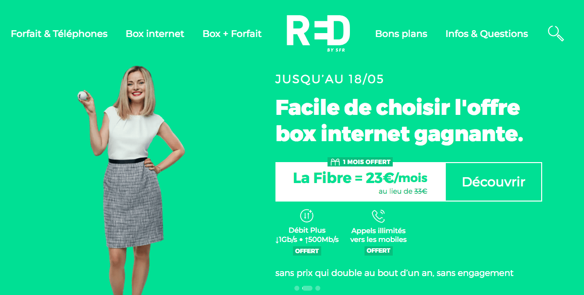 Souscrire la box internet de RED by SFR
