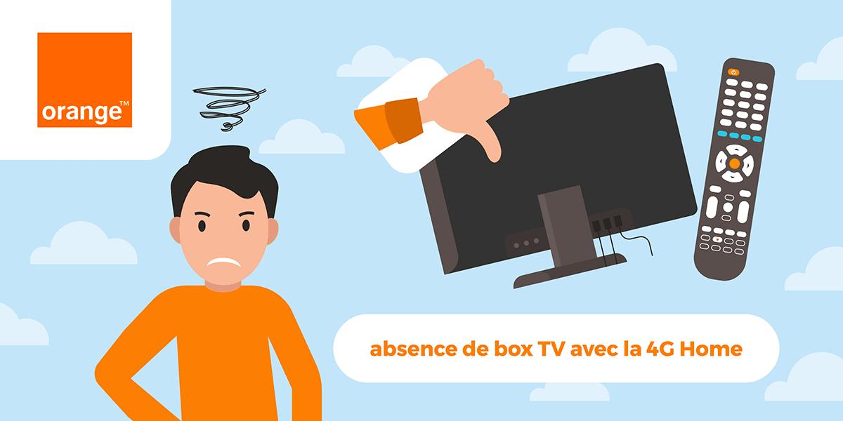 Absence de box TV avec 4G Home.