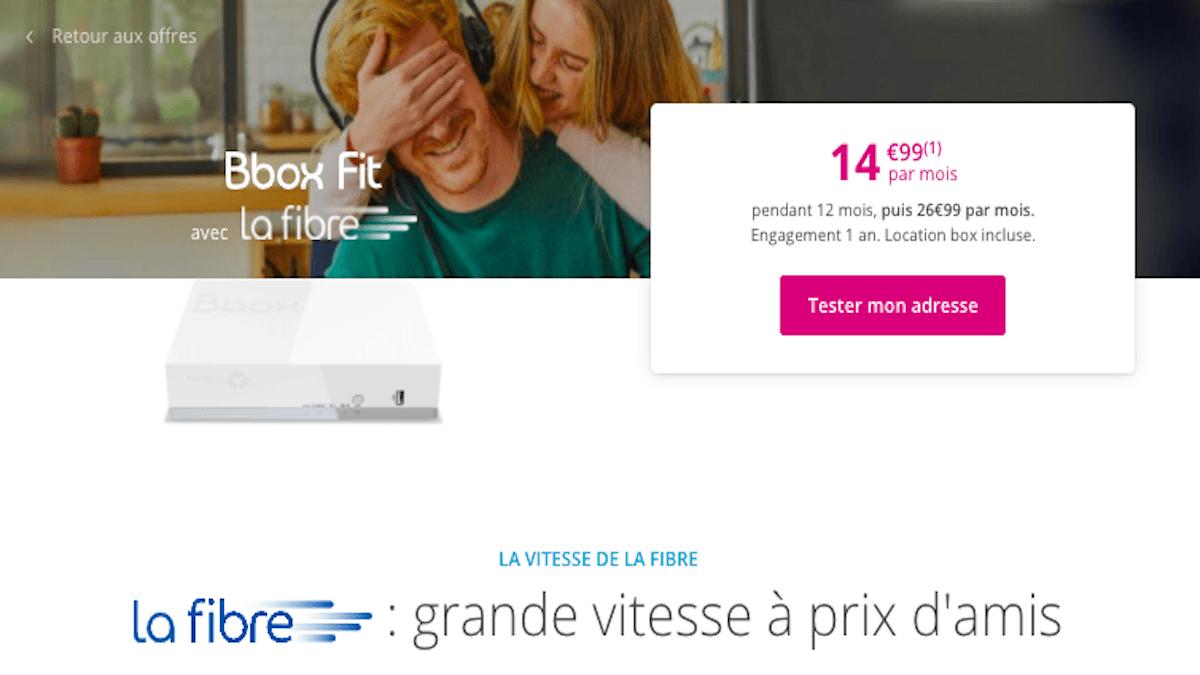 Bbox Fit fibre à 15€