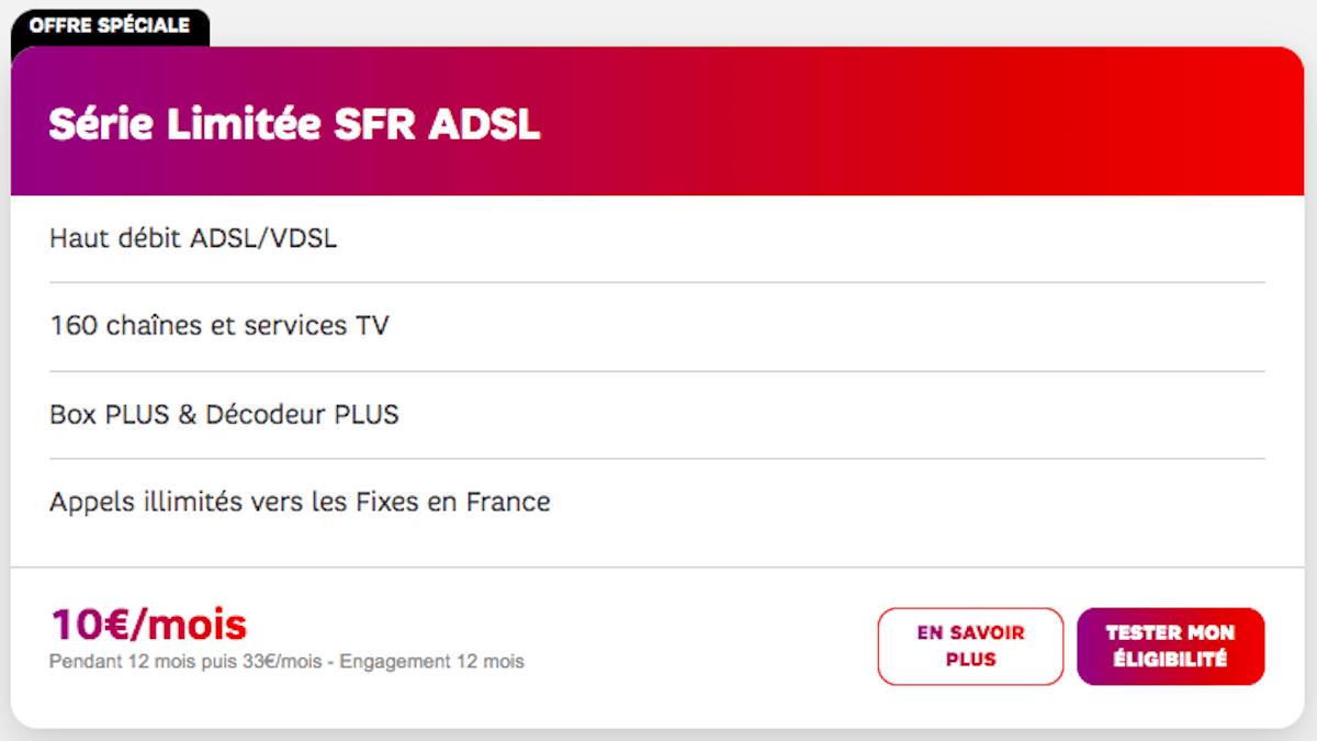 SFR Box 10€ ADSL promo