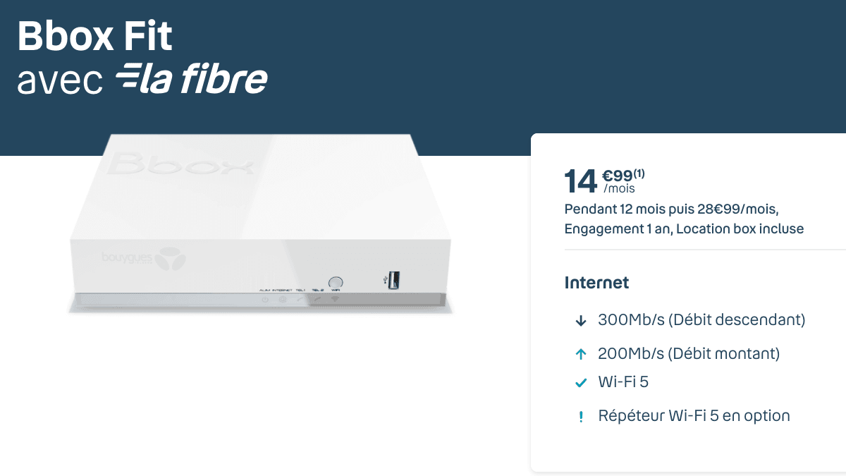 La bbox fit, la box internet à 15 euros de Bouygues Telecom.