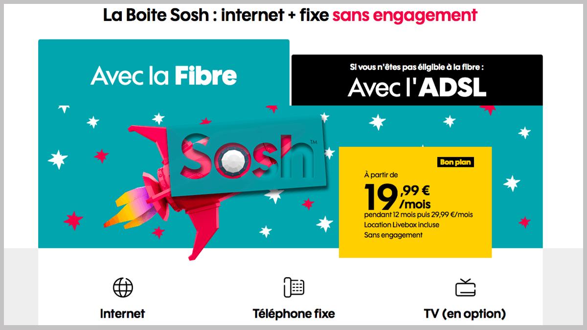Box internet Sosh avec TV d'Orange