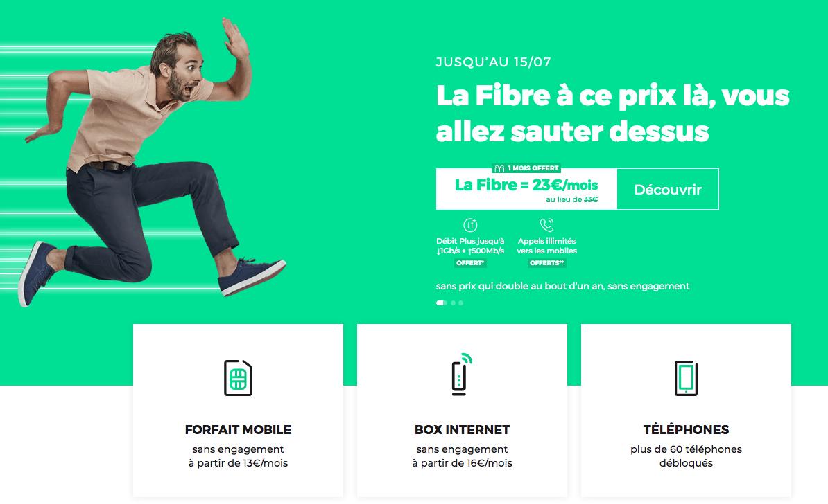 la fibre optique avec RED by SFR