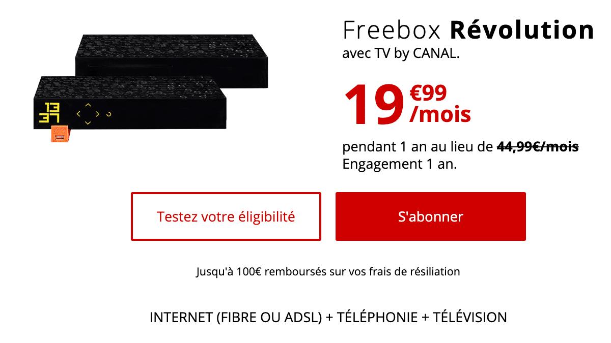 la Freebox Révolution propose un débit de 1 Gb/s dans le sens du téléchargement.