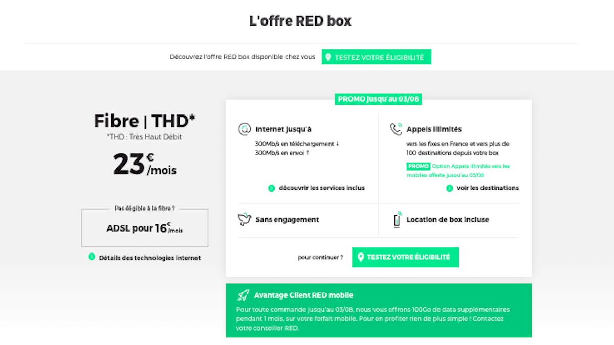 RED Box avec deux promos téléphone
