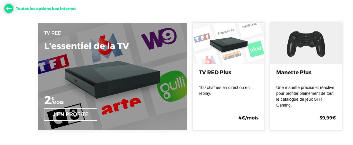 red box option tv