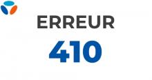 Code erreur 410 Bouygues Telecom