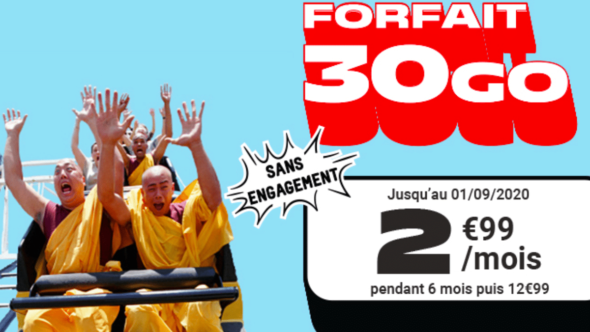Forfait 30 Go NRJ Mobile