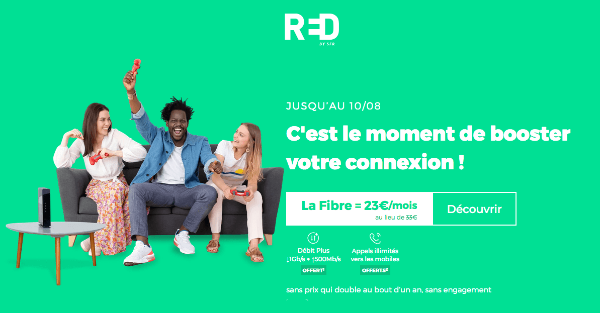 box internet pour étudiants de red