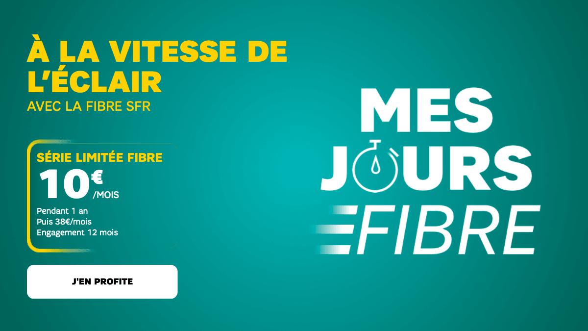La fibre de SFR est à 10€ par mois pendant 12 mois.