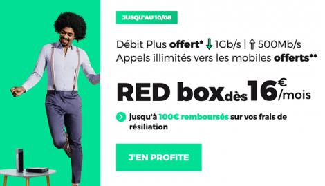 RED Box promo débit plus et appels.