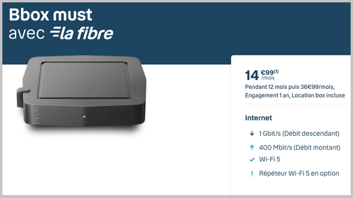 Bbox Must en fibre optique
