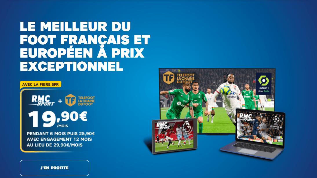Telefoot et RMC Sport dès 19,90€