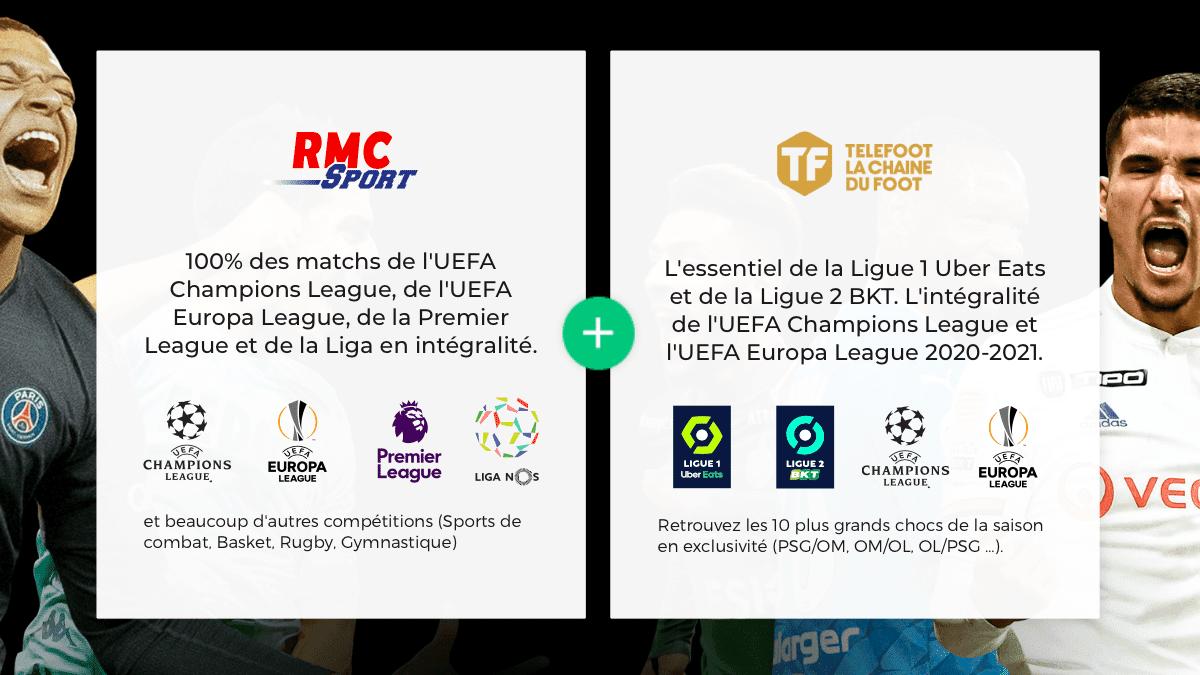 Telefoot et RMC Sport : 19,90€ par mois avec RED by SFR.