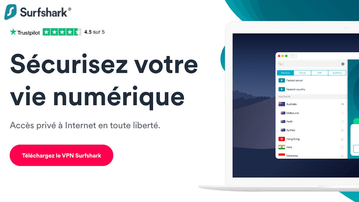 Surfshark VPN en promotion