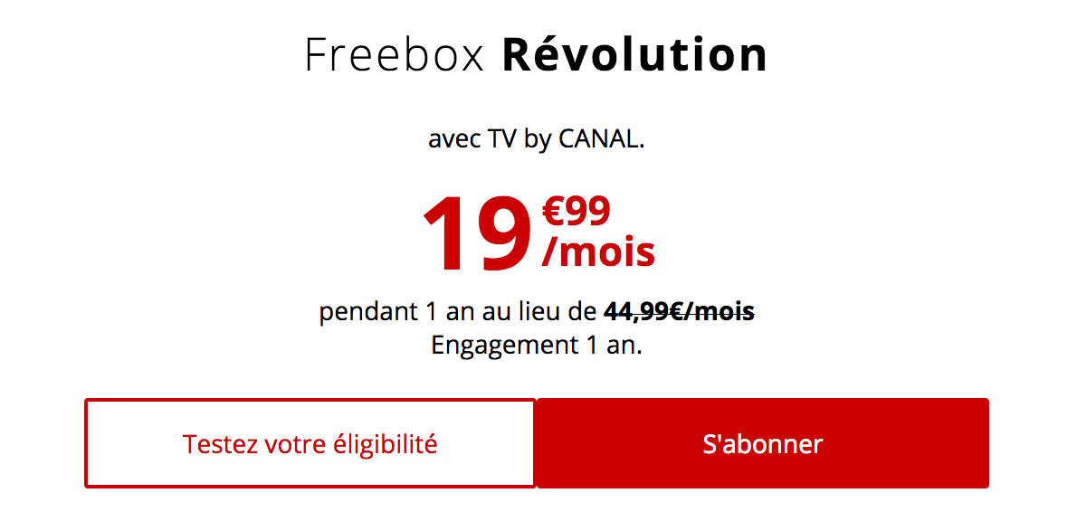 Box en promo Freebox Révolution