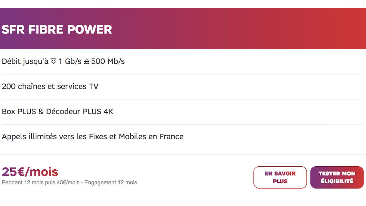 Box internet gaming SFR Fibre Power