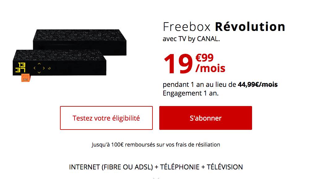 Pack fibre Freebox Revolution