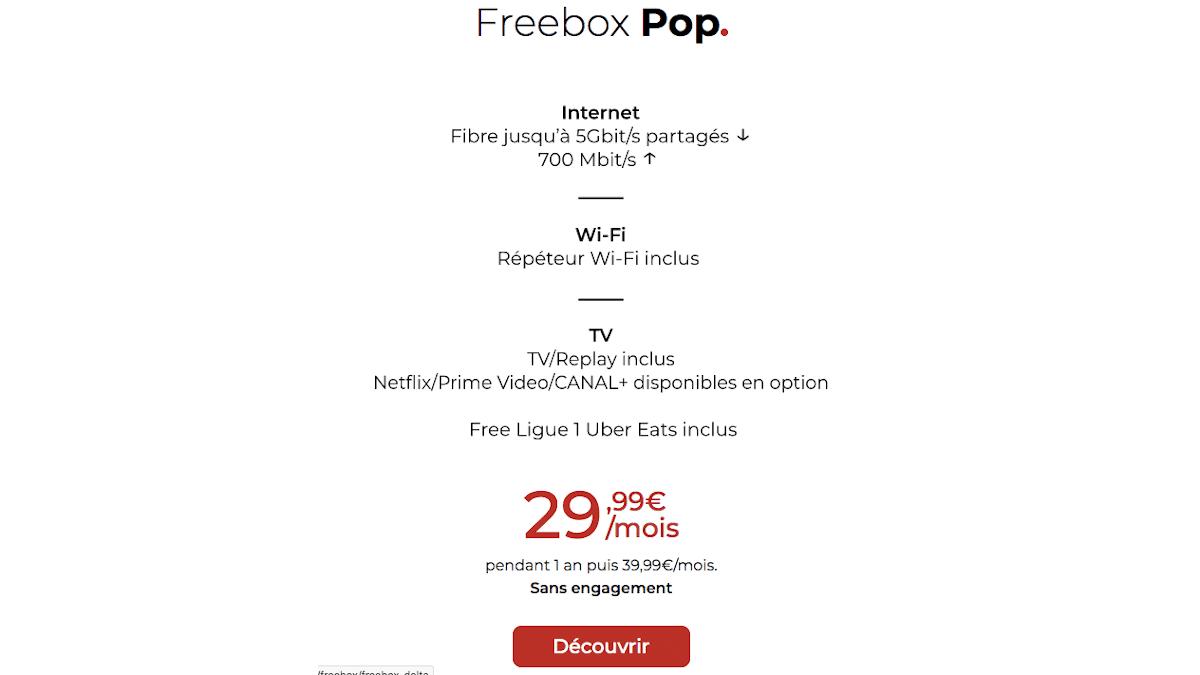 Nouveautés Netflix Freebox Pop