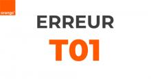 L'erreur T01 d'Orange.