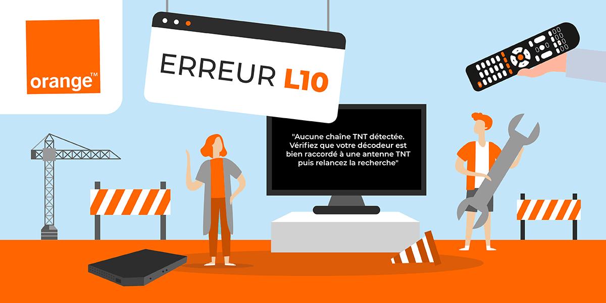 Erreur L10 box TV Orange.