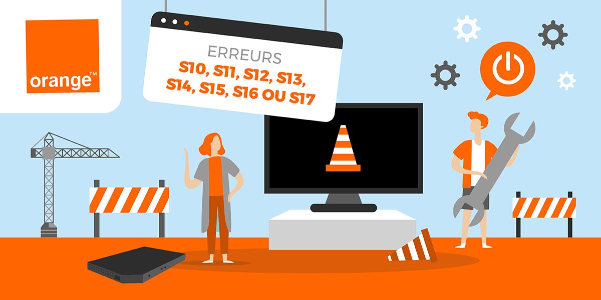 Les erreurs S10 à S17 Orange.