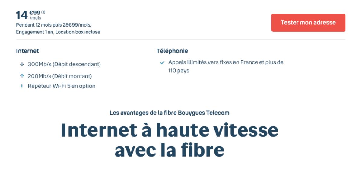 La box internet de Bouygues Telecom pour 14,99€/mois