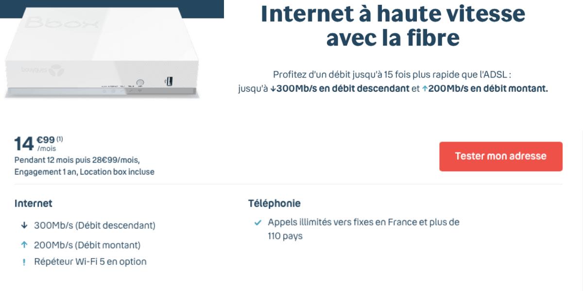 La Bbox Fit à moins de 20€/mois pendant un an.