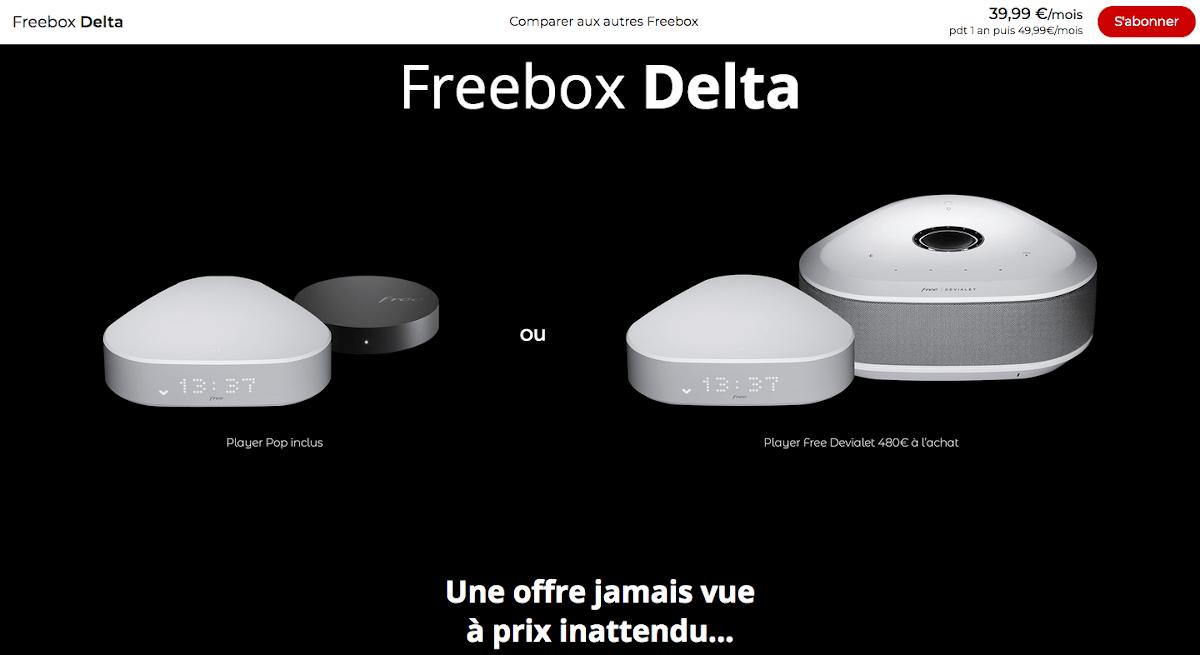 Box internet coloc fibre Freebox Delta