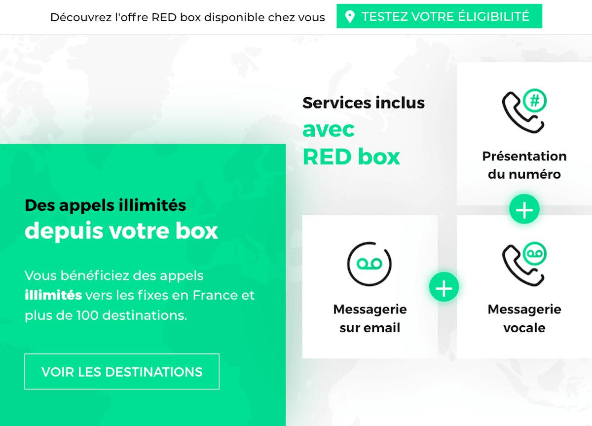 Box internet fibre RED téléphonie