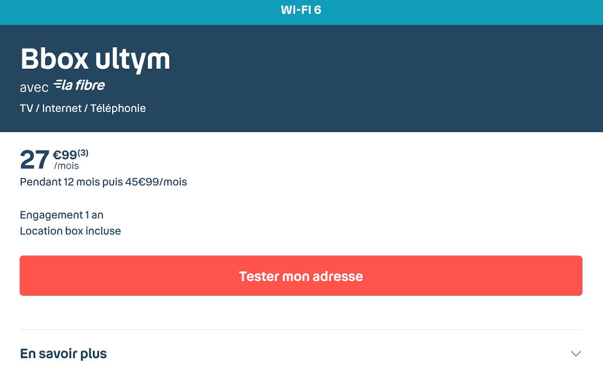 Box internet premium Bbox Ultym