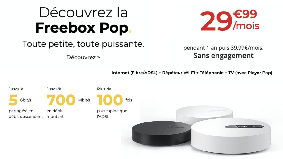 La Freebox Pop pour 29,99€/mois.